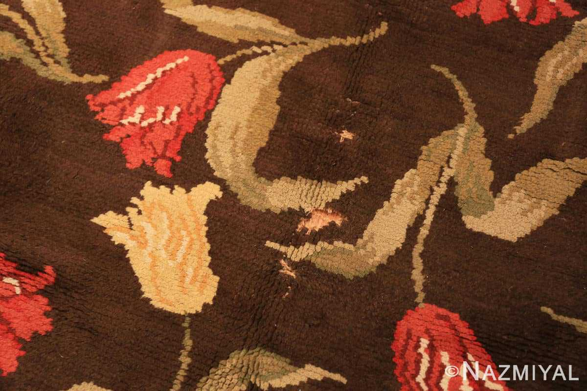 Defect detail Antique Savonnerie French rug 44949 by Nazmiyal Antique Rugs in NYC