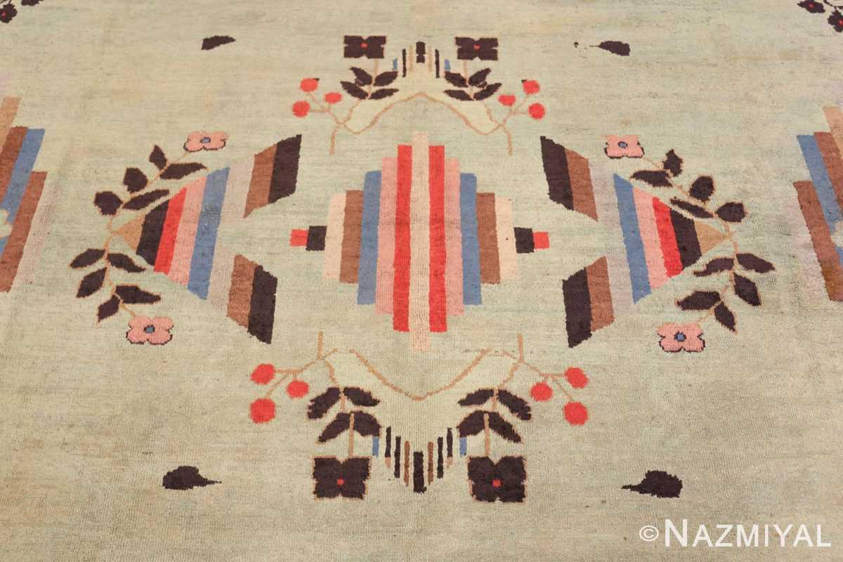 Field Vintage Art Deco Indian rug 44915 by Nazmiyal