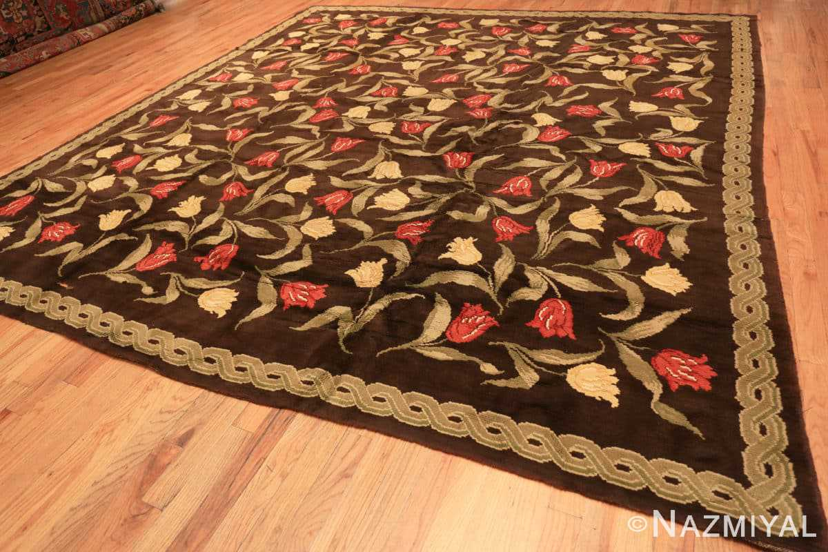 Full Antique Savonnerie French rug 44949 by Nazmiyal Antique Rugs in NYC