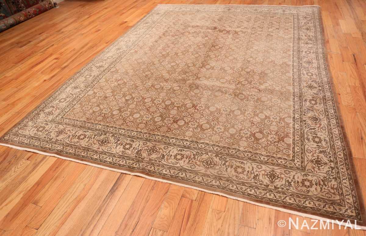 Full Shabby chic Antique Persian Tabriz rug 44600 by Nazmiyal