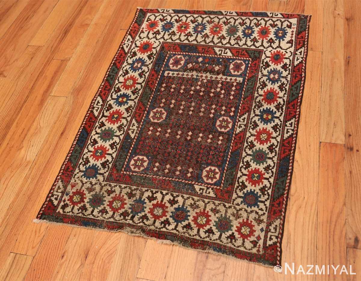 Full Small Tribal Antique Caucasian Avar rug 44636 by Nazmiyal