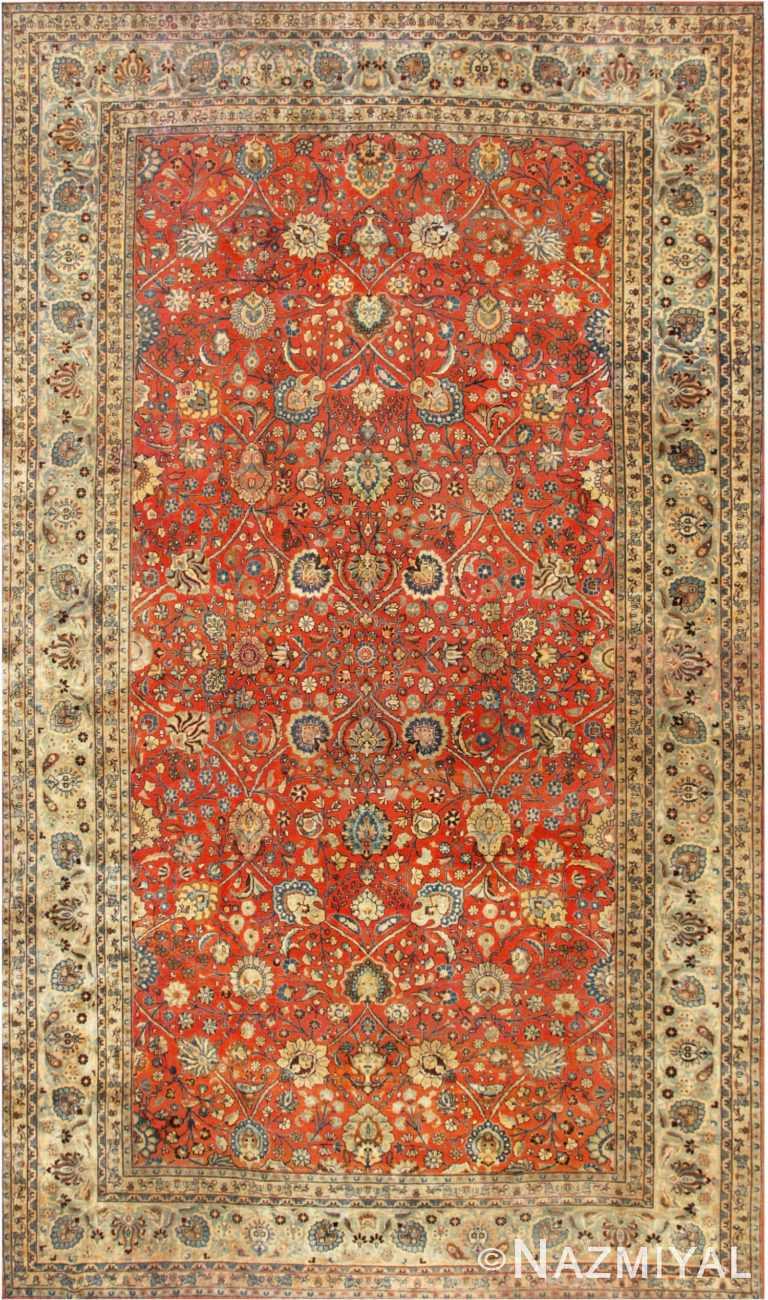 Large Antique Tabriz Persian Carpet 44813 by Nazmiyal Antique Rugs