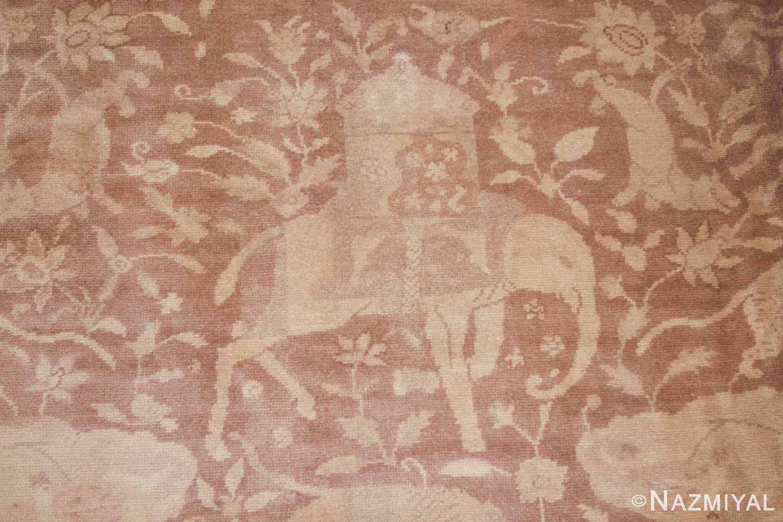 large shabby chic antique amritsar indian rug 42296 elephant Nazmiyal