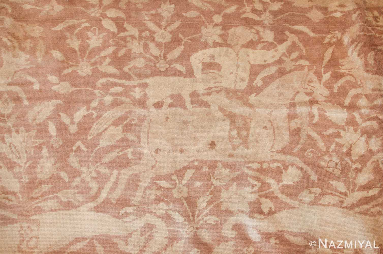large shabby chic antique amritsar indian rug 42296 hunter Nazmiyal