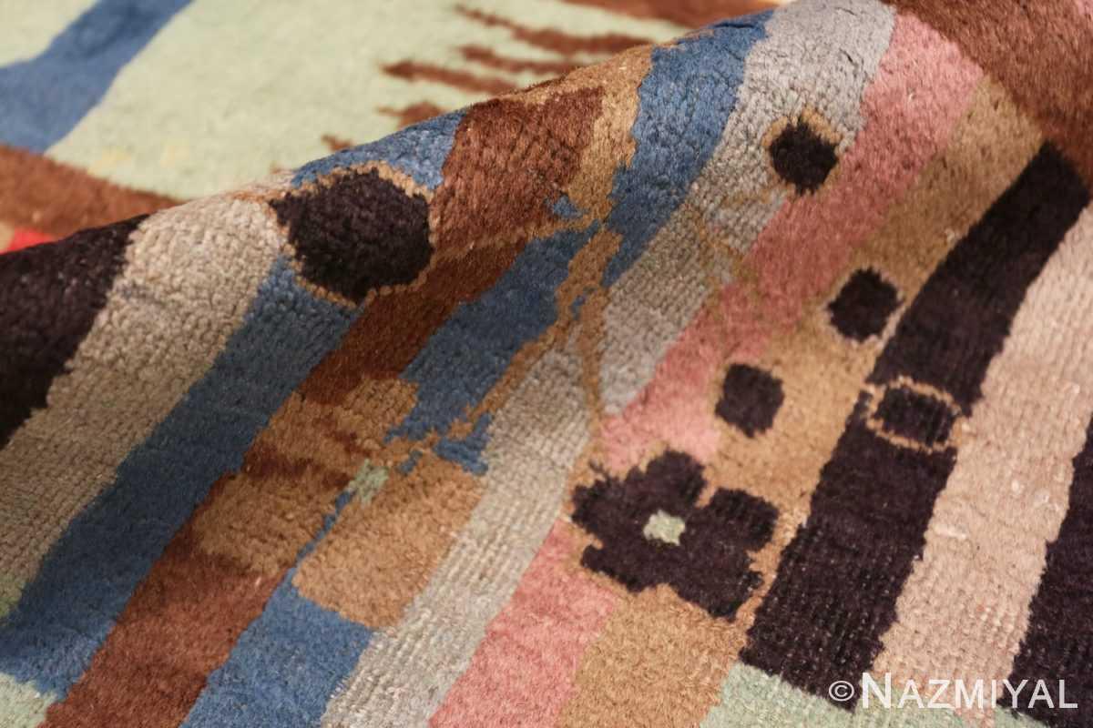 Pile Vintage Art Deco Indian rug 44915 by Nazmiyal