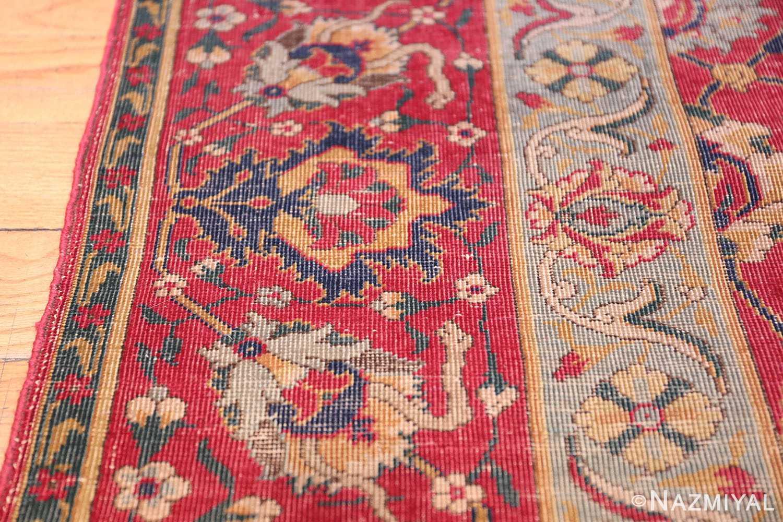 rare and collectible antique turkish tuduc rug 786 border Nazmiyal