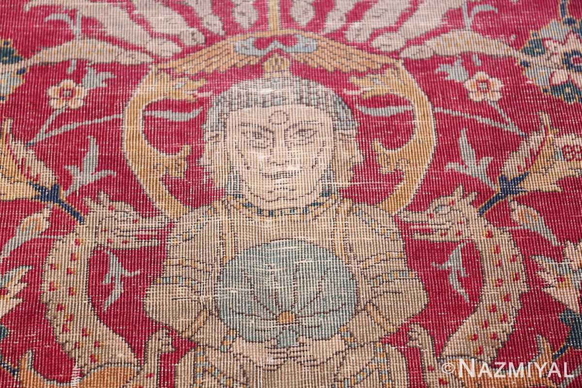 rare and collectible antique turkish tuduc rug 786 dragon Nazmiyal