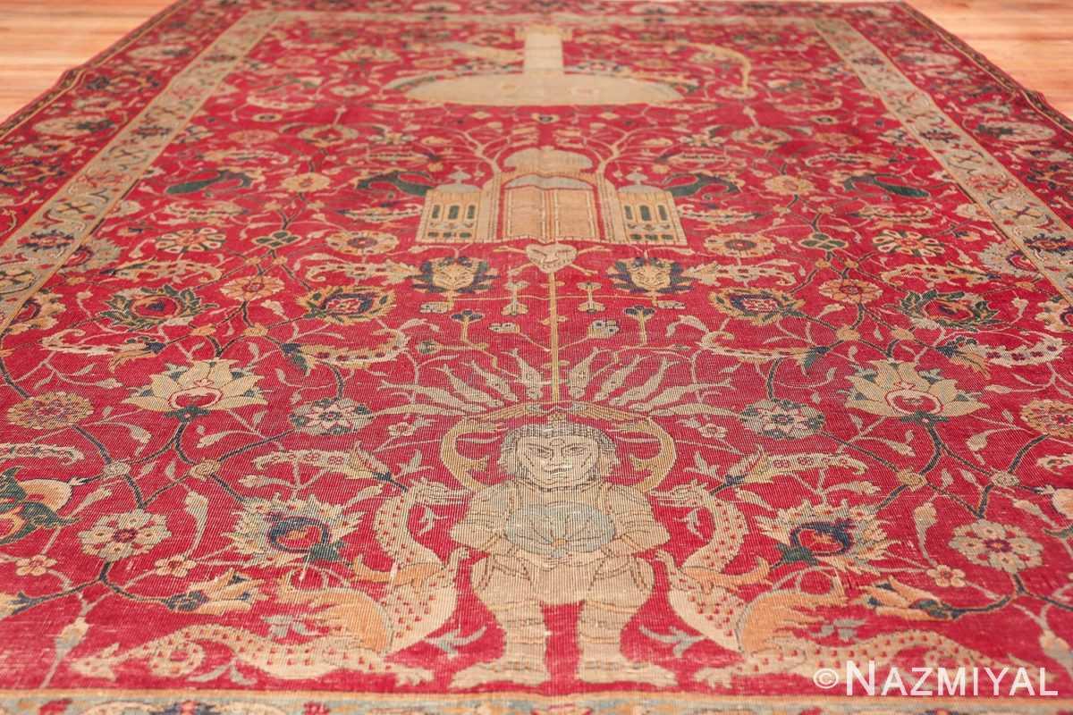 rare and collectible antique turkish tuduc rug 786 field Nazmiyal