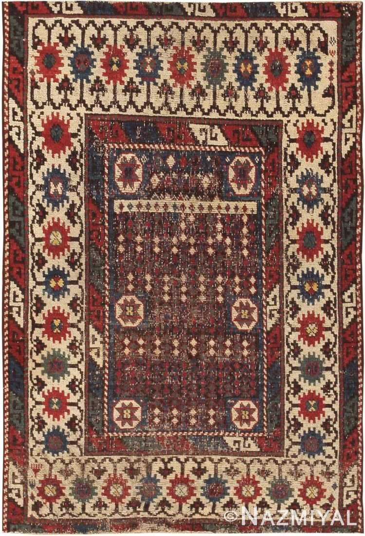 Small Tribal Antique Caucasian Avar Rug #44636 by Nazmiyal Antique Rugs