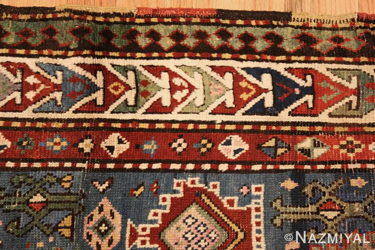 tribal antique caucasian kazak rug 44563 border Nazmiyal