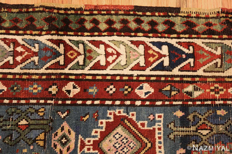 tribal antique caucasian kazak rug 44563 border Nazmiyal