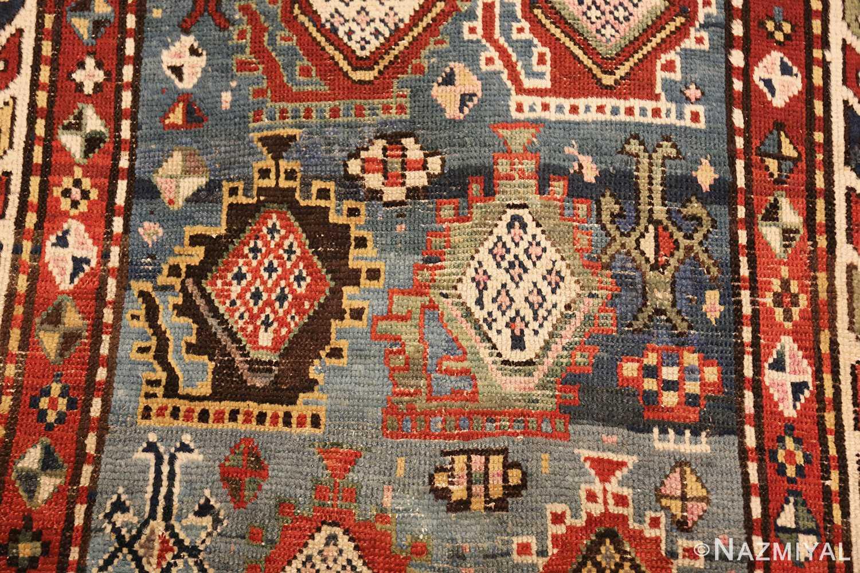 tribal antique caucasian kazak rug 44563 design Nazmiyal