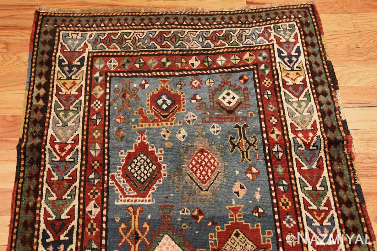 tribal antique caucasian kazak rug 44563 top Nazmiyal