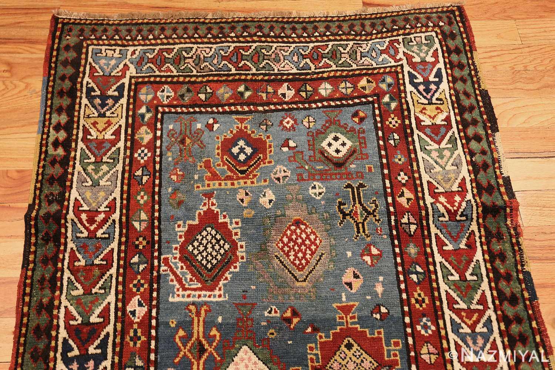 tribal antique caucasian kazak rug 44563 top Nazmiyal