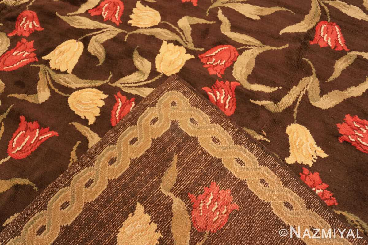 Weave Antique Savonnerie French rug 44949 by Nazmiyal Antique Rugs in NYC