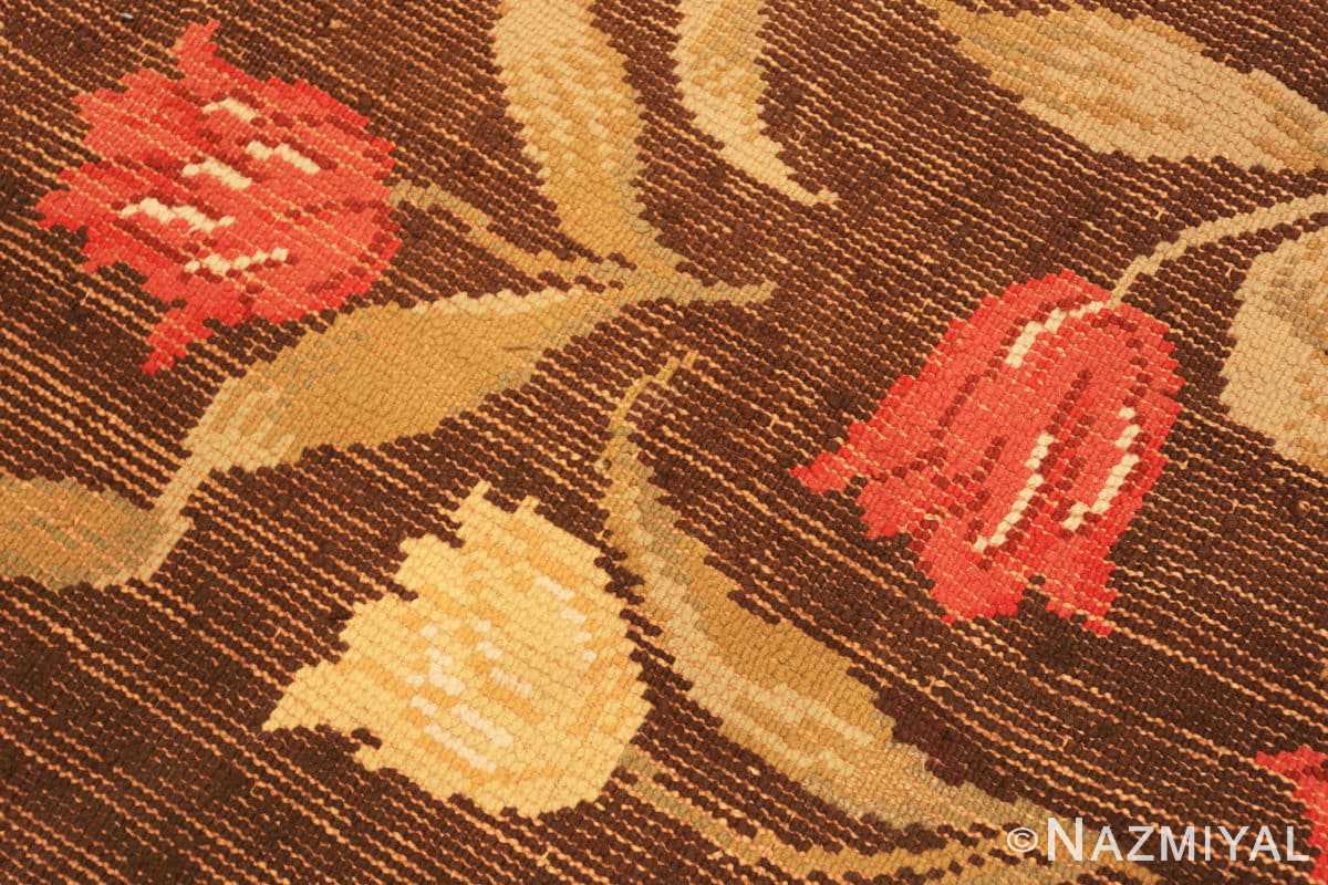 Weae detail Antique Savonnerie French rug 44949 by Nazmiyal Antique Rugs in NYC