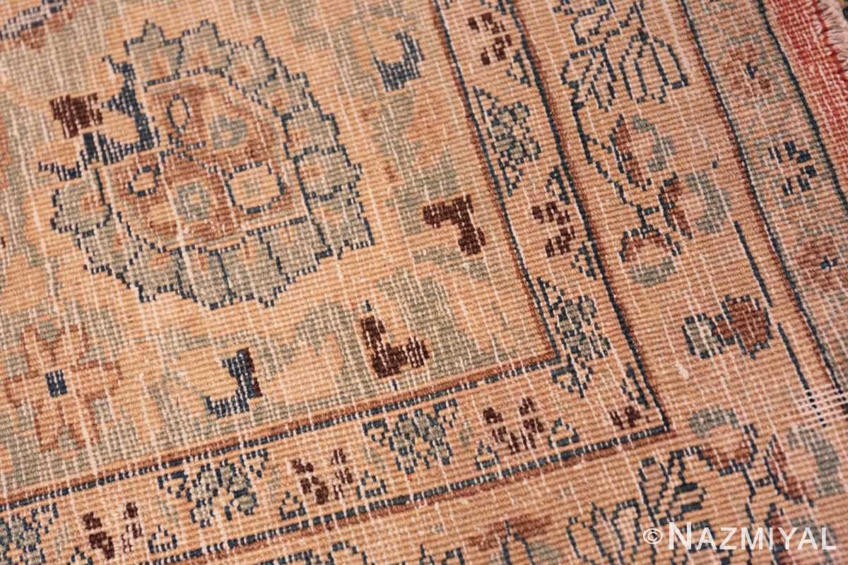 Weave detail Large Antique Tabriz Persian carpet 44813 by Nazmiyal
