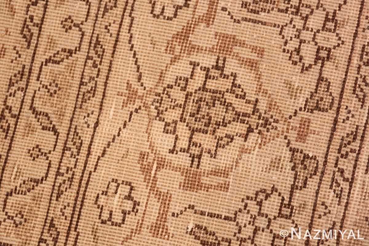 Weave detail Shabby chic Antique Persian Tabriz rug 44600 by Nazmiyal