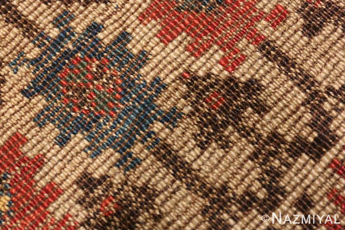 Weave detail Small Tribal Antique Caucasian Avar rug 44636 by Nazmiyal