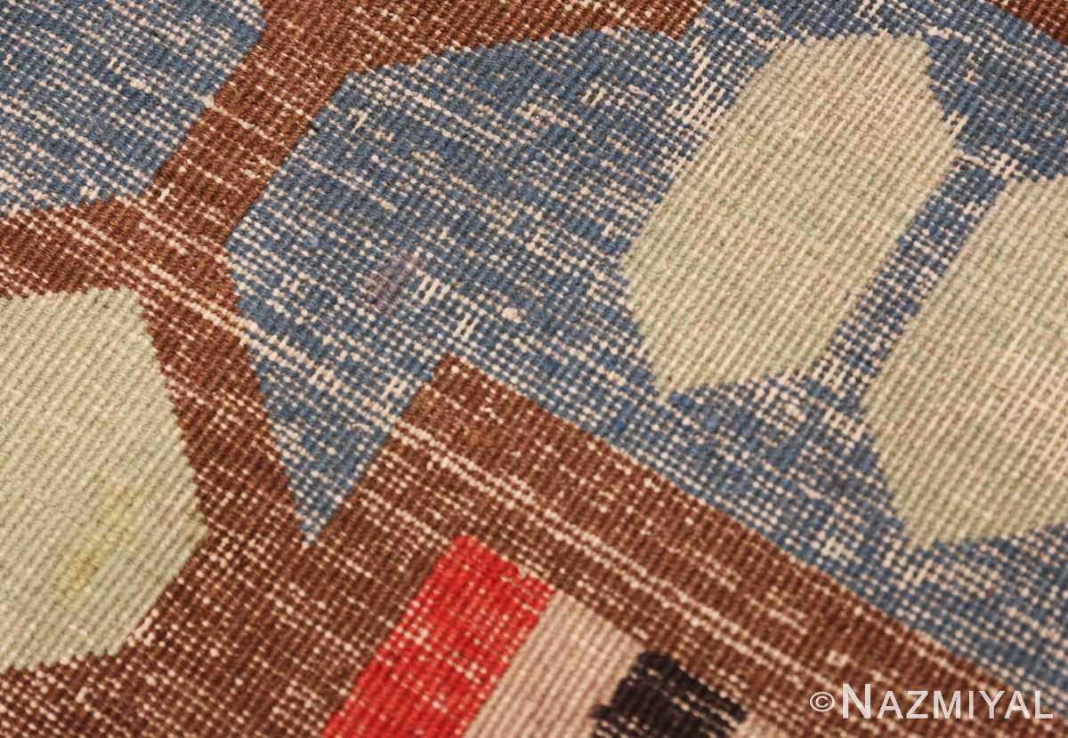 Weave detail Vintage Art Deco Indian rug 44915 by Nazmiyal