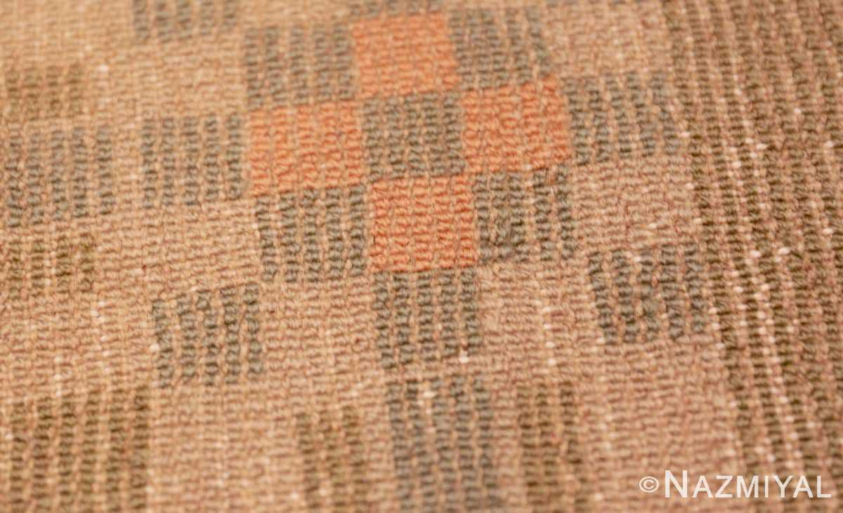 Weave detail Vintage French Art Deco runner rug 43082 by Nazmiyal