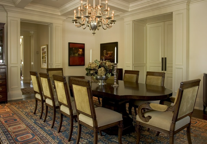 Antique Bakshaish Rug in a Dinning Room