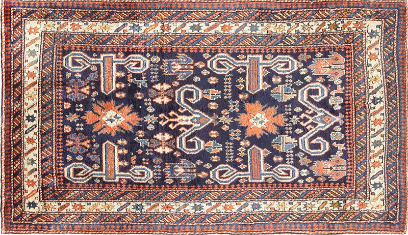 Antique Oriental Perpedil Caucasian Shirvan Rug 47603 by Nazmiyal