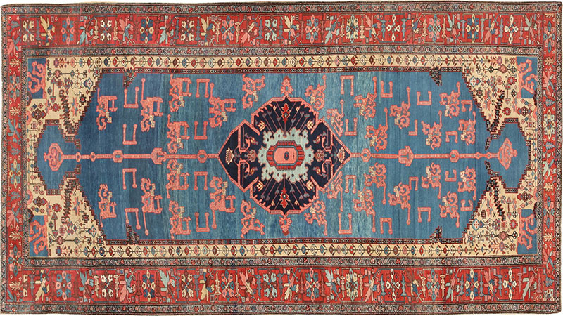 Antique Persian Bakshaish Oriental Rug 47045 by Nazmiyal