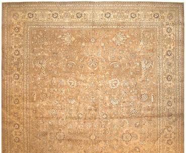 Rug Used in this Design. Antique Tabriz Rug 41941