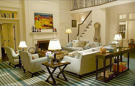Hamptons Family Room Interior Design by Nazmiyal