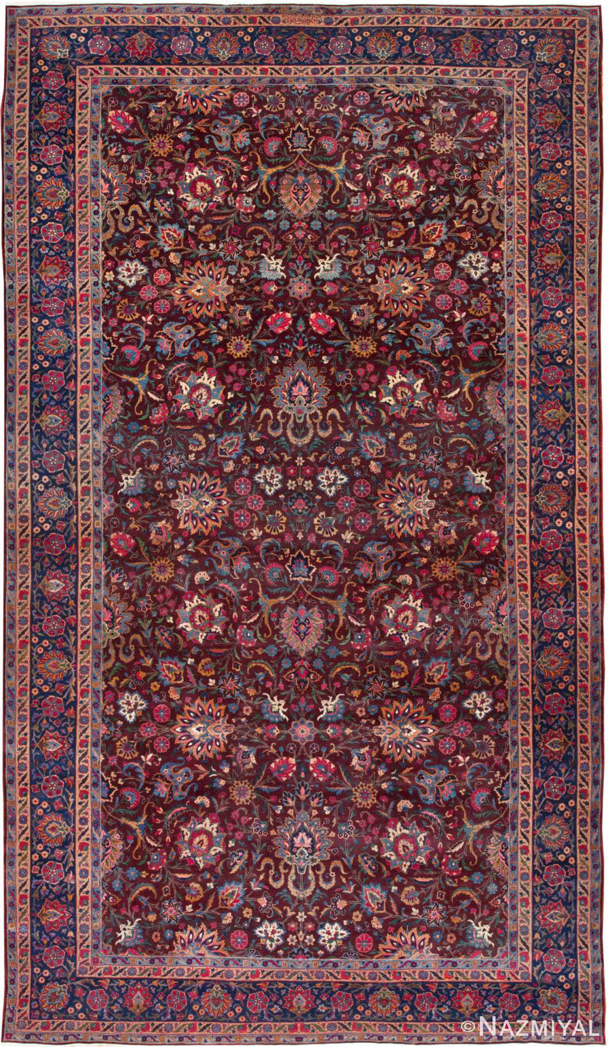 Aubergine Antique Persian Kerman Rug 44830 by Nazmiyal