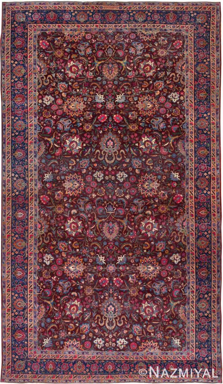 Aubergine Antique Persian Kerman Rug 44830 by Nazmiyal