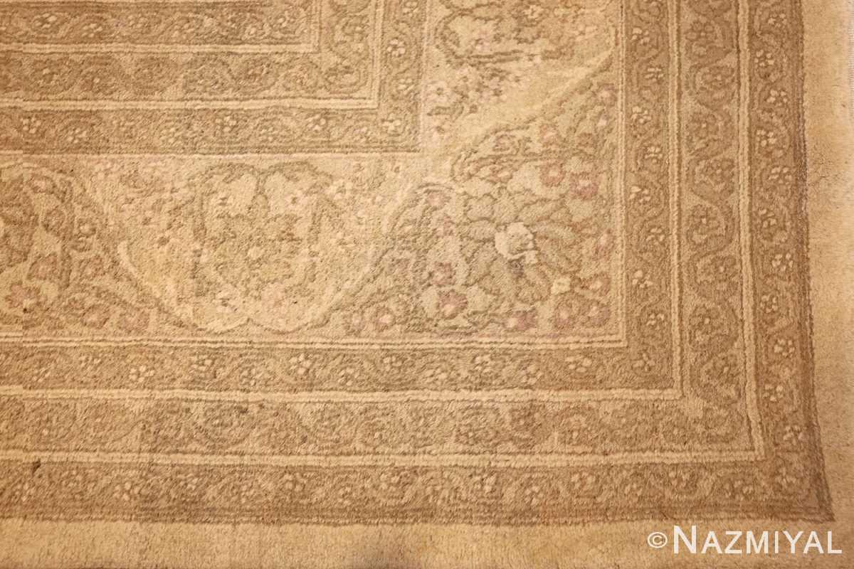 antique agra indian rug 45029 corner Nazmiyal