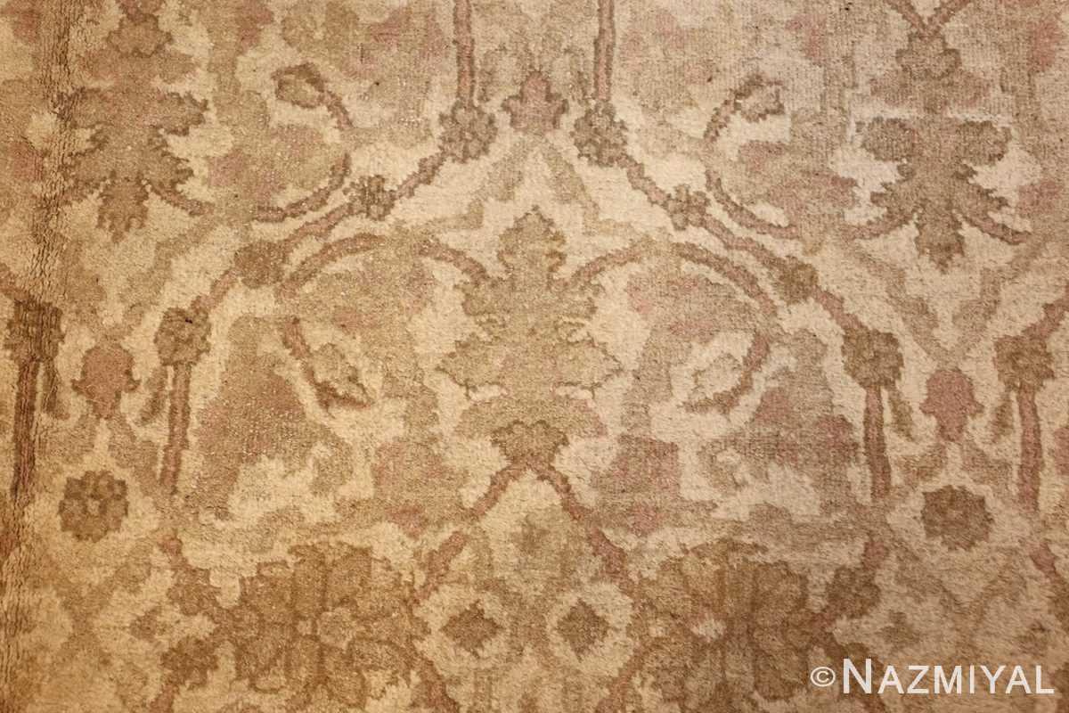 antique agra indian rug 45029 field Nazmiyal