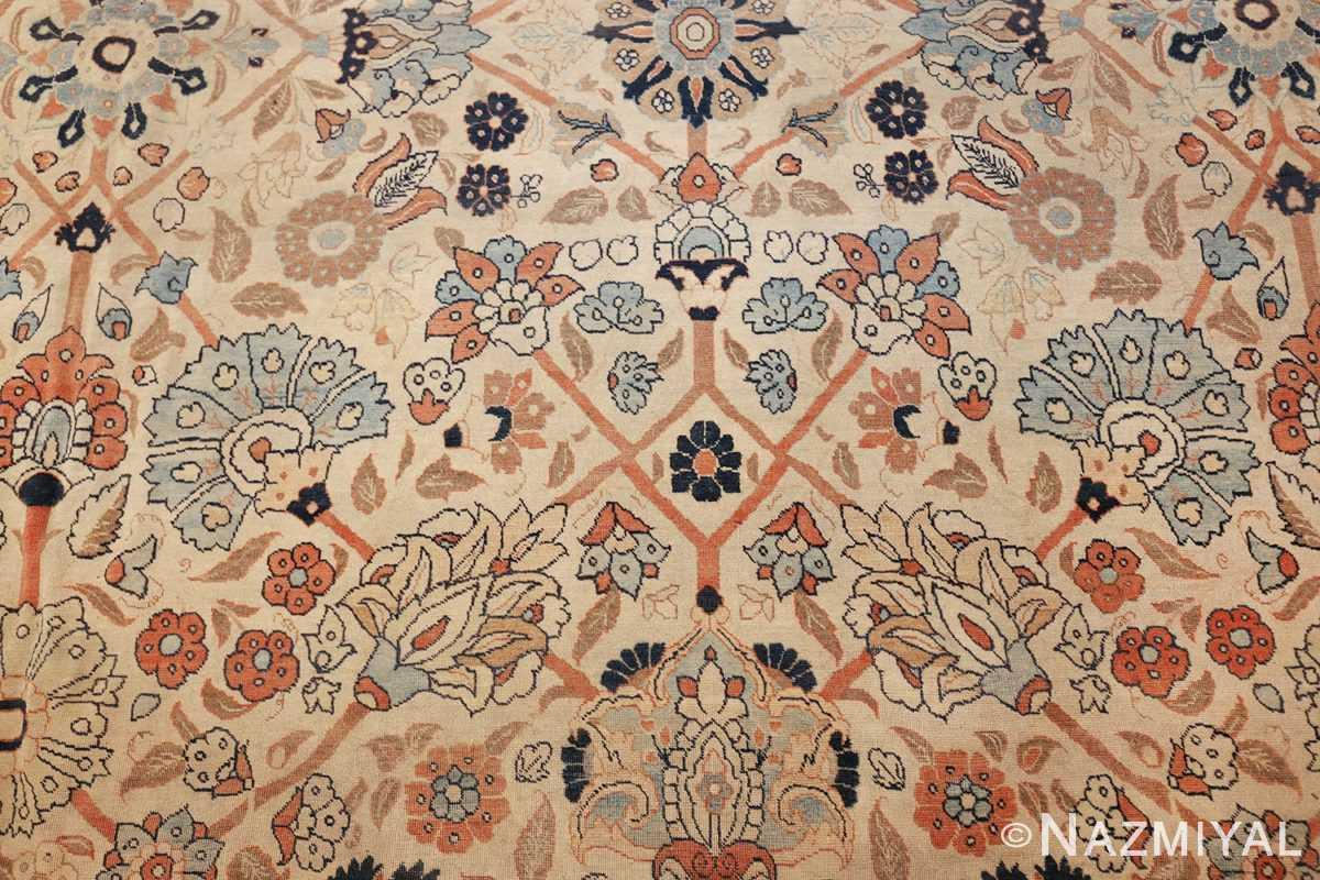 large antique persian tabriz haji jalili rug 44645 blue Nazmiyal