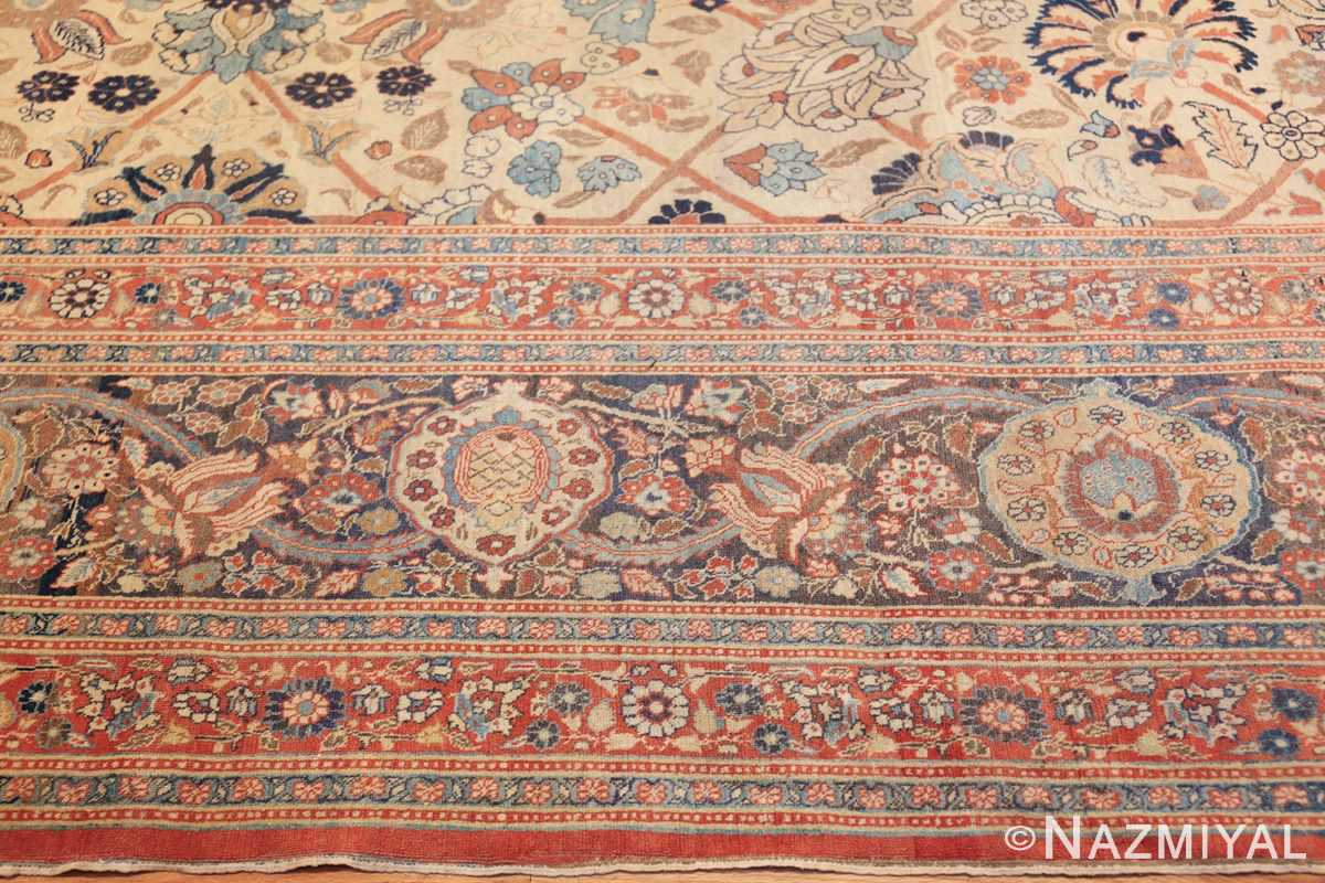 large antique persian tabriz haji jalili rug 44645 border Nazmiyal
