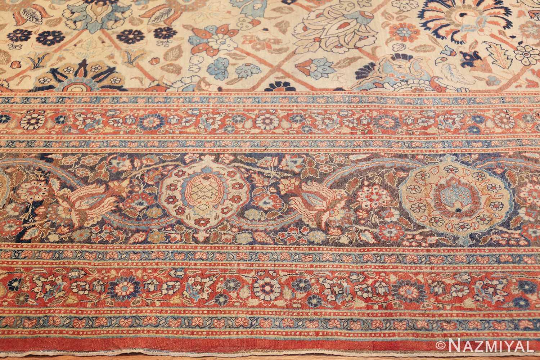 large antique persian tabriz haji jalili rug 44645 border Nazmiyal