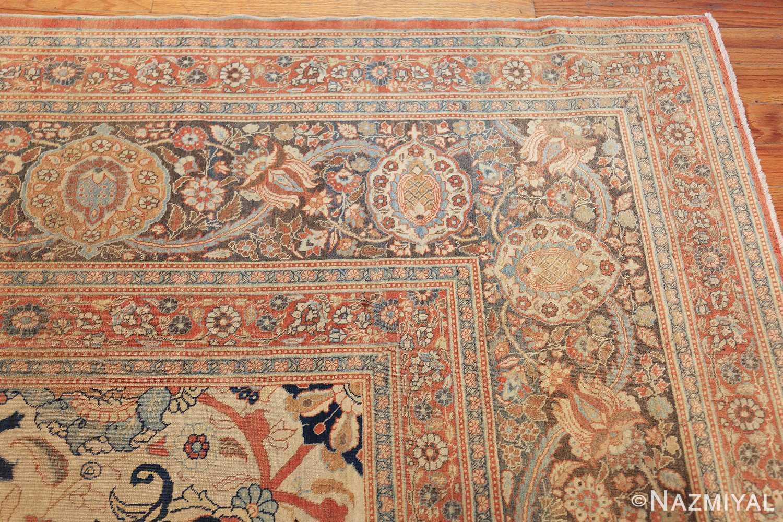 large antique persian tabriz haji jalili rug 44645 corner Nazmiyal
