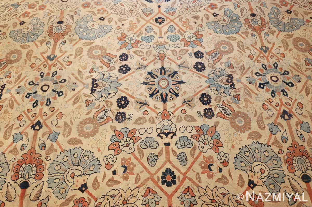 large antique persian tabriz haji jalili rug 44645 field Nazmiyal