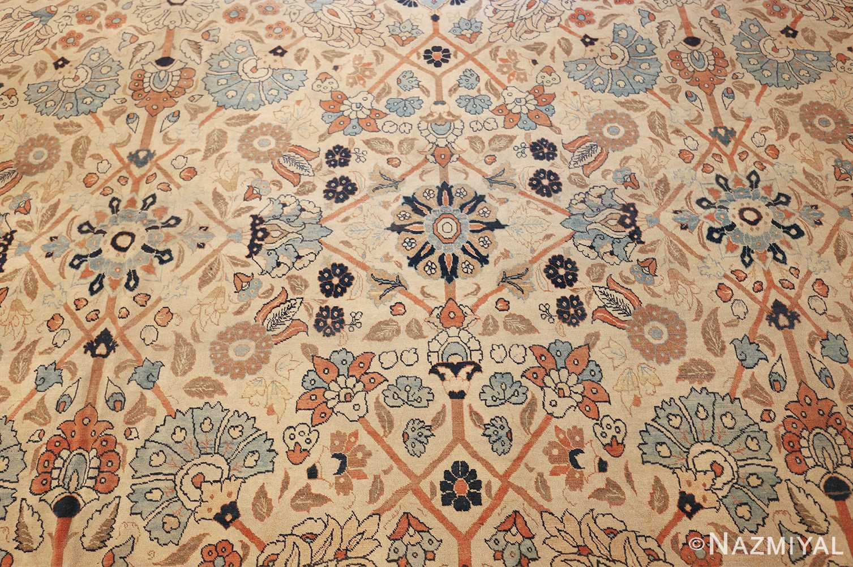 large antique persian tabriz haji jalili rug 44645 field Nazmiyal
