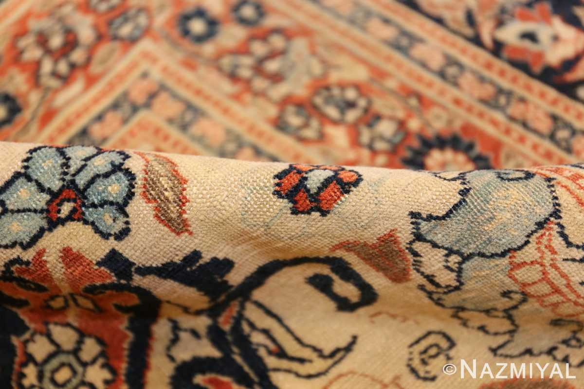 large antique persian tabriz haji jalili rug 44645 pile Nazmiyal
