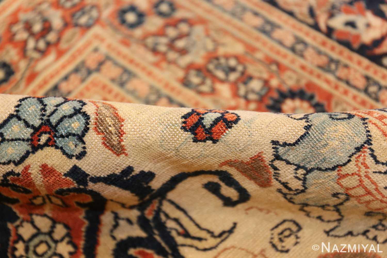 large antique persian tabriz haji jalili rug 44645 pile Nazmiyal