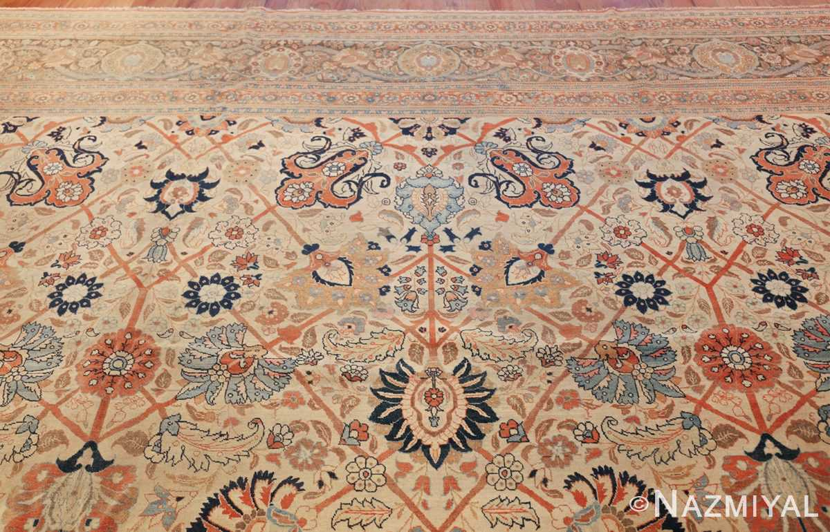 large antique persian tabriz haji jalili rug 44645 top Nazmiyal
