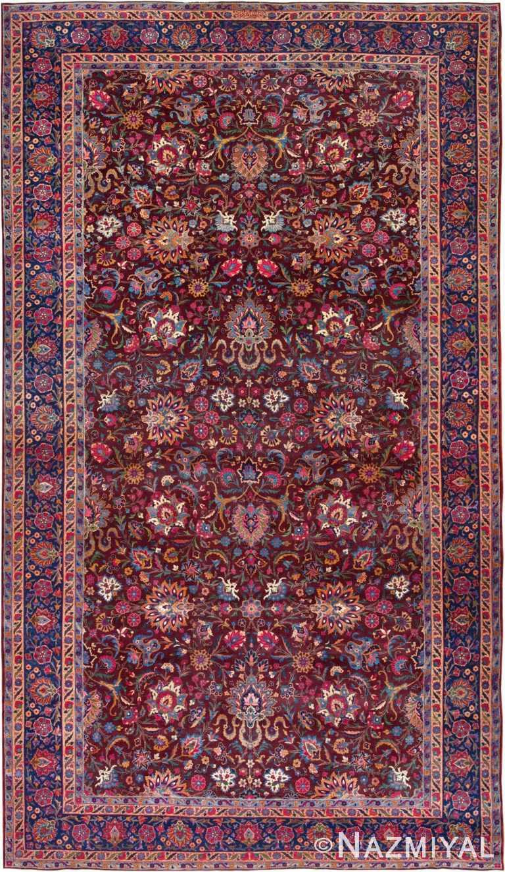 Large Aubergine Antique Persian Kerman Rug #44830 by Nazmiyal Antique Rugs