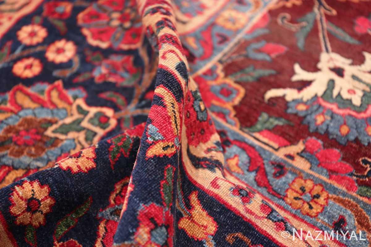Pile Aubergine Antique Persian Kerman rug 44830 by Nazmiyal