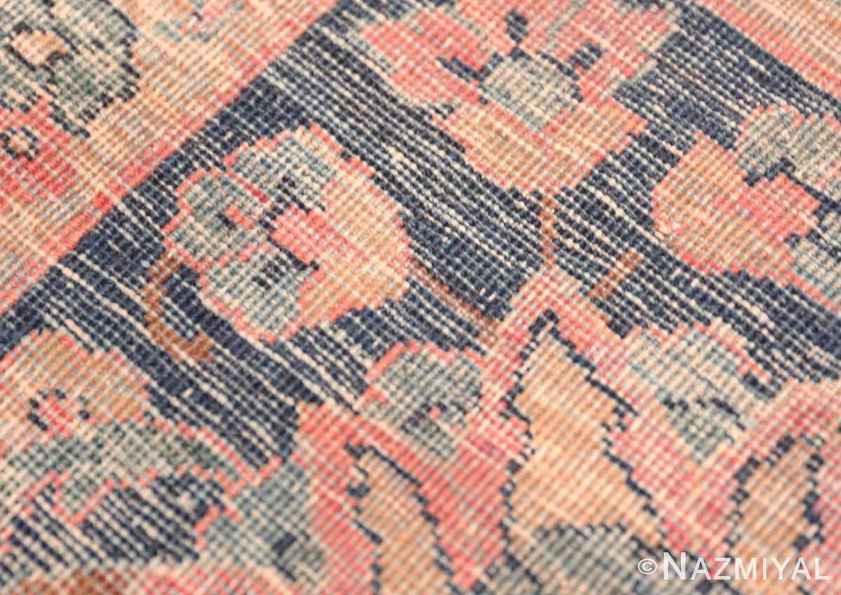 Weave detail Aubergine Antique Persian Kerman rug 44830 by Nazmiyal