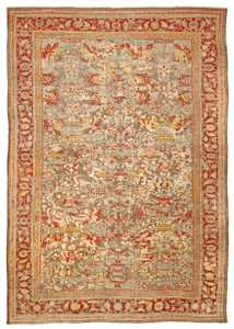 Antique Mahal Persian Rug 42160 Detail/Large View