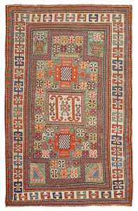 Antique Kazak Caucasian Rug 45191 Detail/Large View