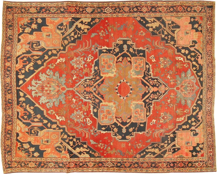 Fine Antique Persian Heriz Rug by Nazmiyal