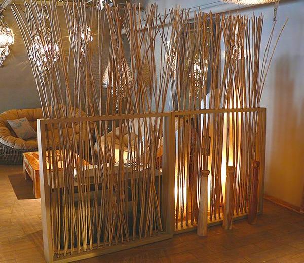 Bamboo Room Divider Home Interiors Nazmiyal